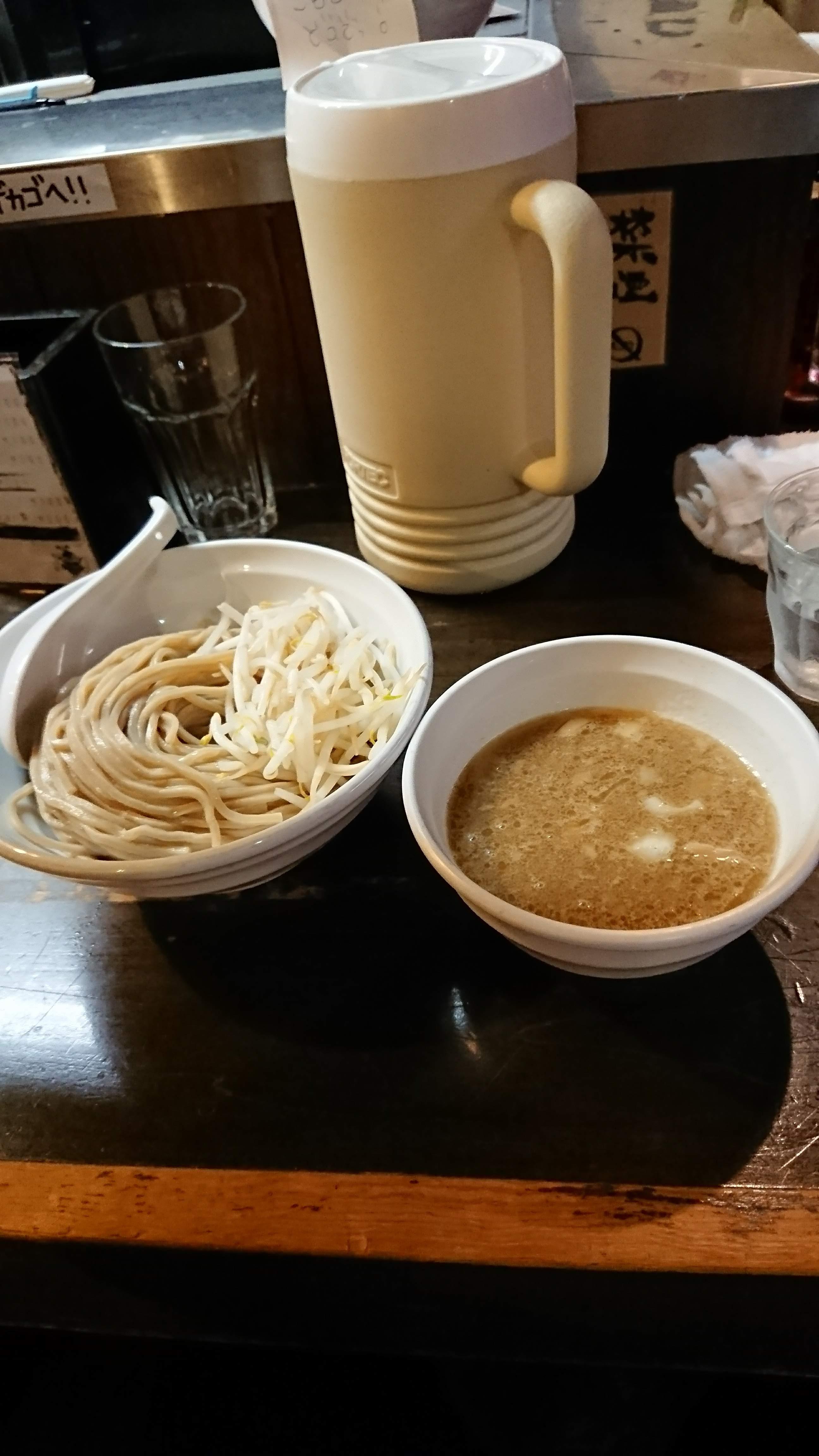 煮干し背油つけ麺